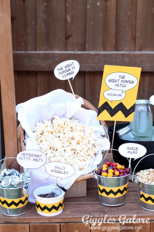 Charlie Brown Popcorn Bar Mixins