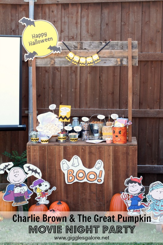 Charlie Brown and The Great Pumpkin Movie Night Party