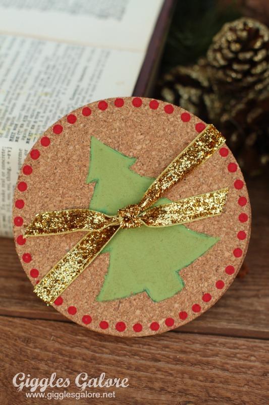 DIY Christmas Tree Coasters