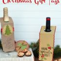 DIY Wine Bottle Christmas Gift Tags_Giggles Galore