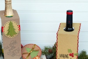 DIY Christmas Wine Bottle Gift Tags