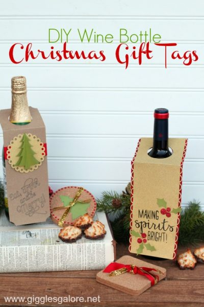Diy wine bottle christmas gift tags giggles galore