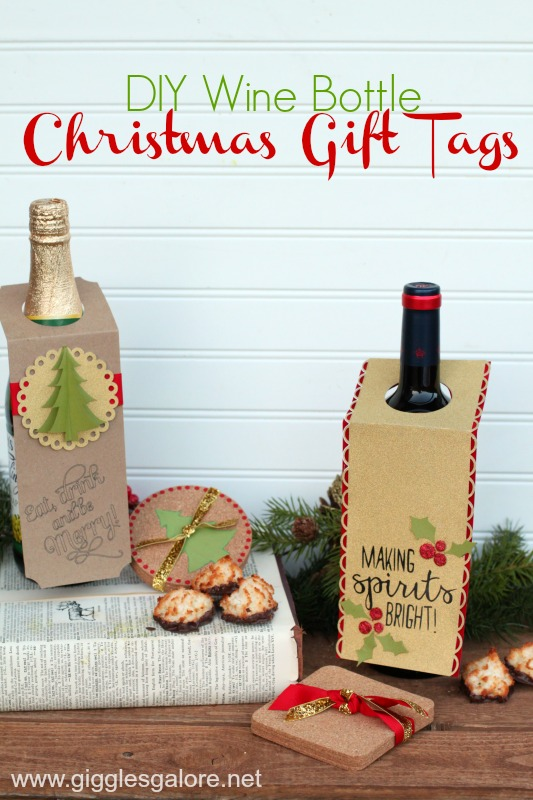 DIY Wine Bottle Christmas Gift Wine Bottle Tags with Cricut by Mariah Leeson