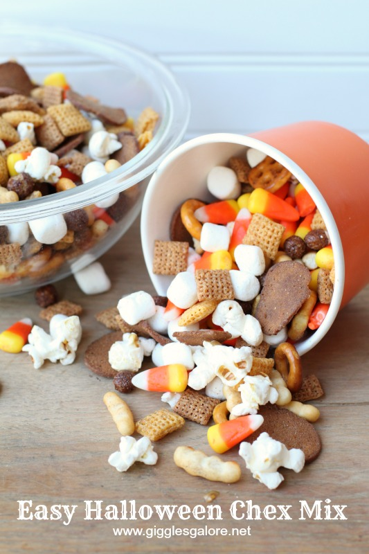 Easy Halloween Chex Mix by Giggles Galore