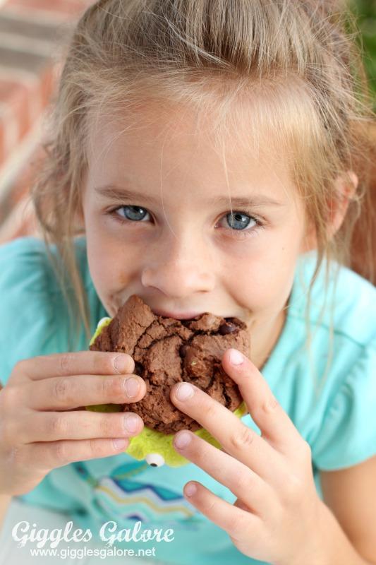 Eating Monster Brownie Sandwich Cookie