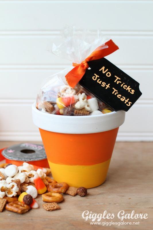 Halloween Candy Corn Pots