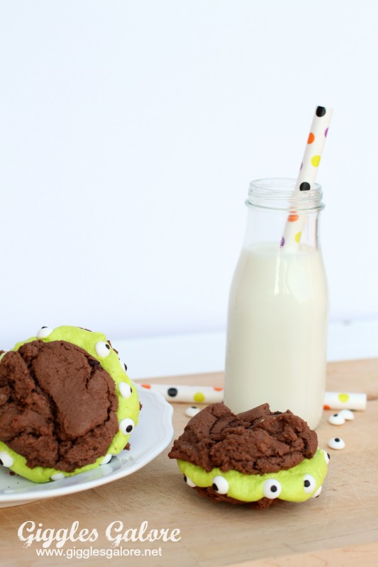 Imperial Sugar Monster Brownie Cookies and Milk