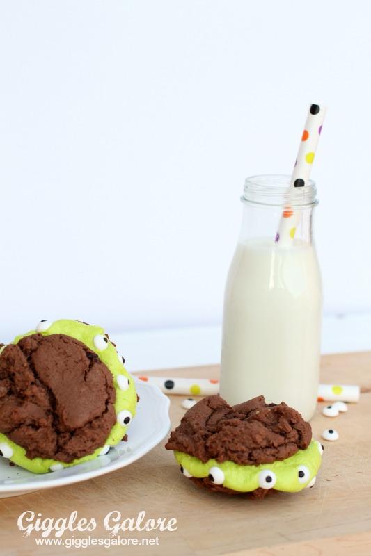 Imperial Sugar Monster Brownie Cookies and Milk