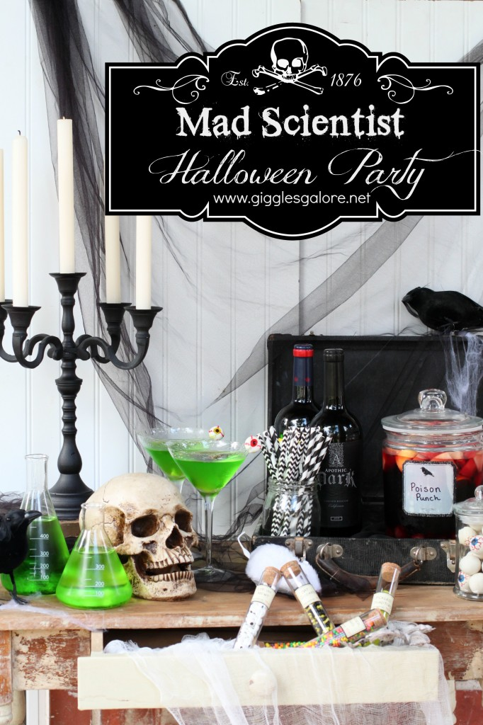 Mad scientist halloween party ideas