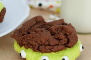 Monster Brownie Sandwich Cookies