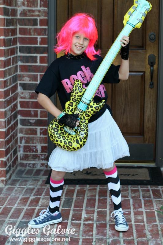 DIY Rock Star Halloween Costume - Giggles Galore