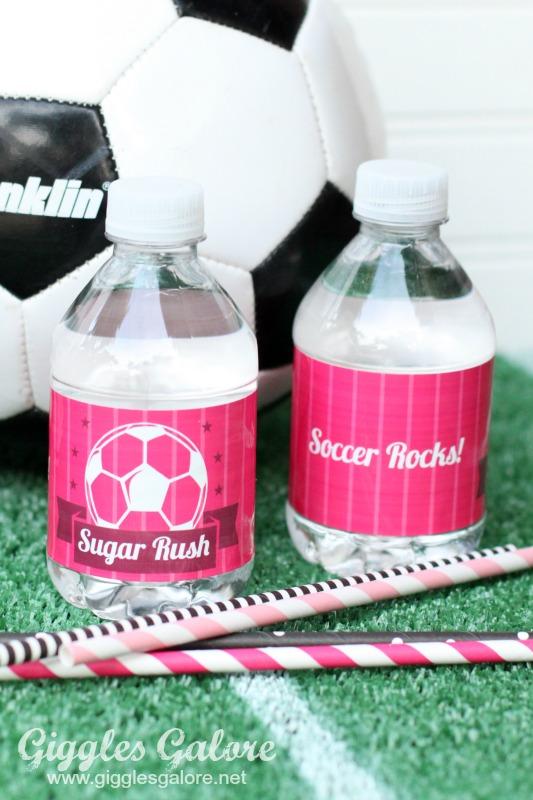 Soccer Rocks Water Bottle Labels