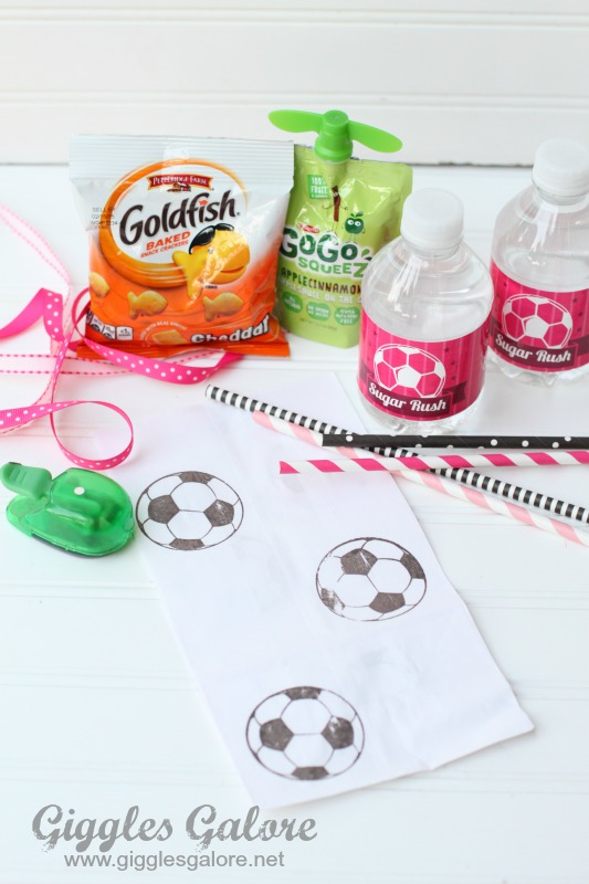 Soccer Snack Bag Goodies