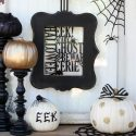 TrickYourPumpkin Black and White Halloween Decor