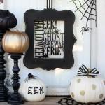 Black and White Pumpkins #TrickYourPumpkin