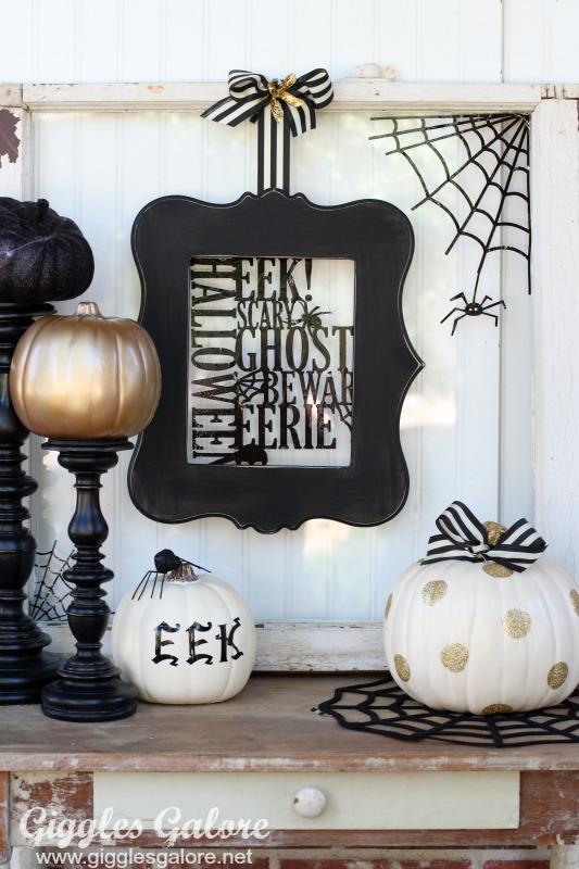 TrickYourPumpkin Black and White Halloween Decor