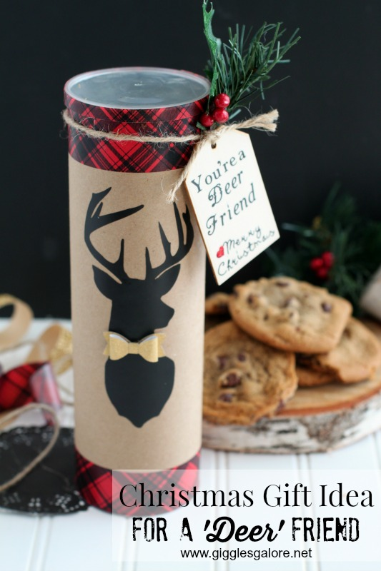 "DIY Christmas Gift Idea for ""A Deer Friend"" with Cricut by Mariah Leeson"