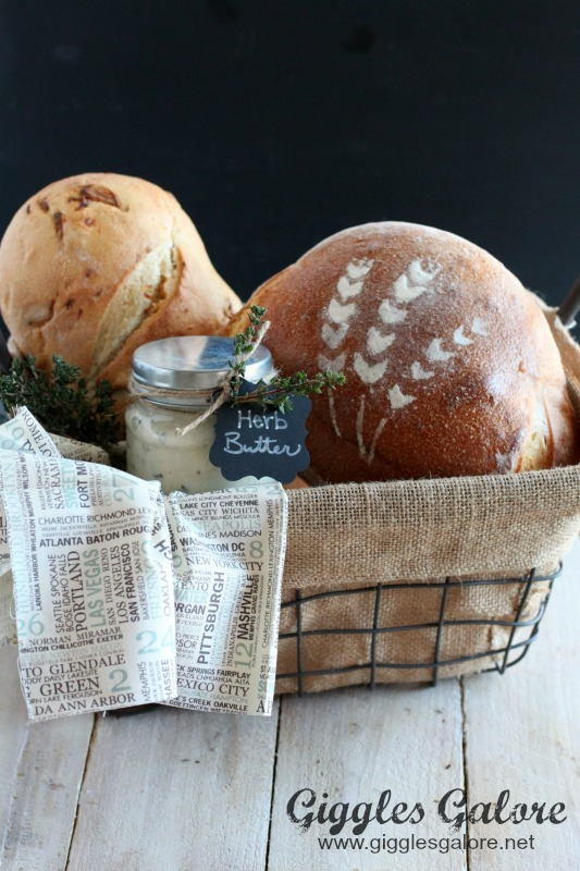 Garlic Herb Butter and Artisan Bread Basket