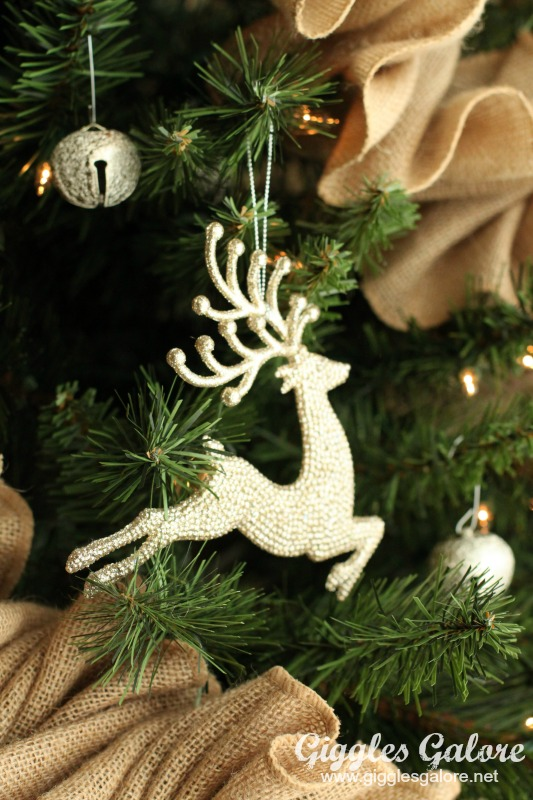 Glam Reindeer Ornament