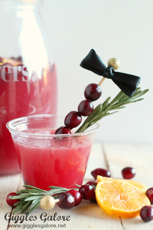 Holiday Cranberry Punch in SOLO cups