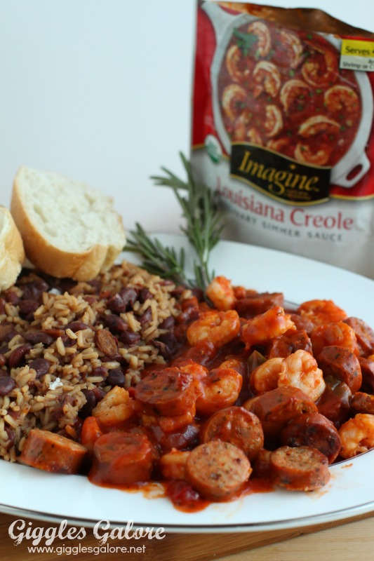 Imagine Louisiana Creole and Red Beans and Rice Dinner