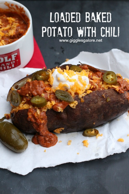 Loaded Baked Potatoes With Chili