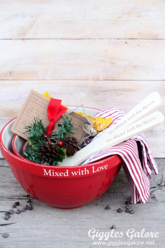 Mixed with Love Personalized Mixing Bowls