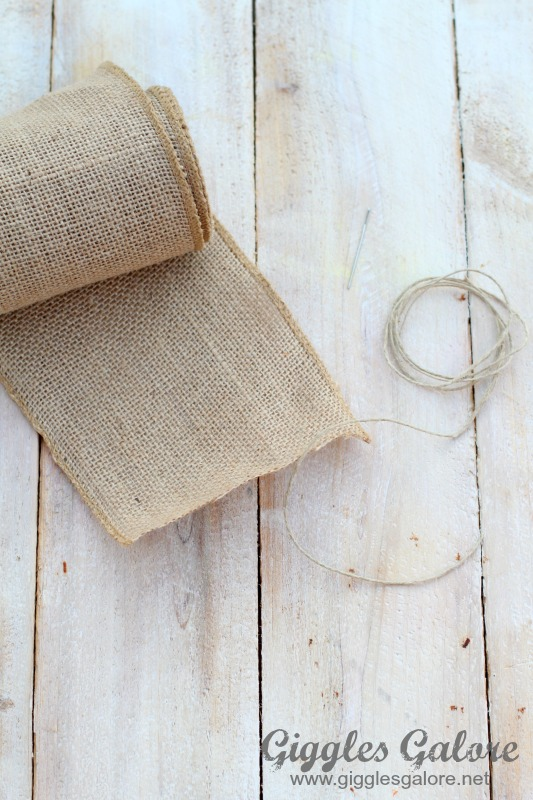 Ruffled Burlap Garland Supplies
