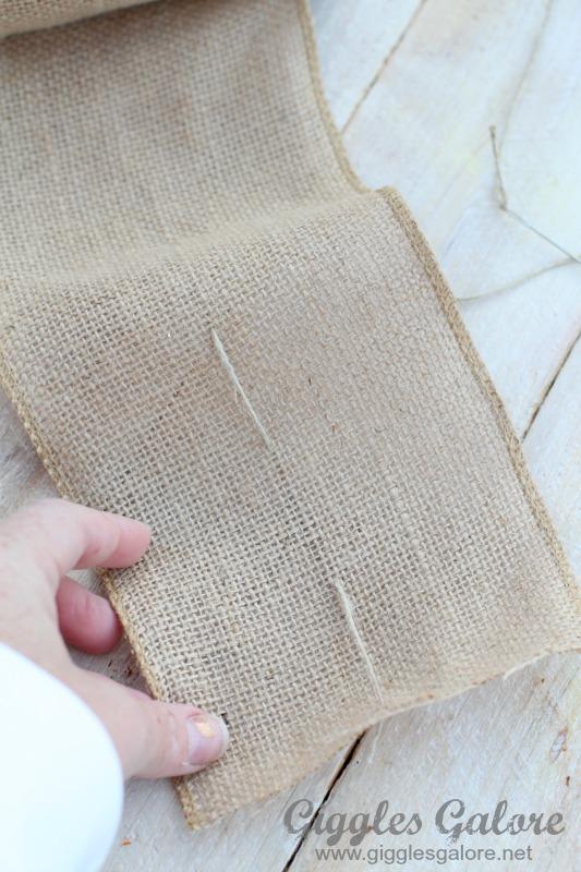 Sewing Burlap Garland