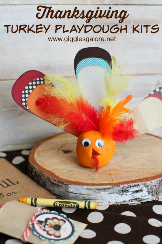 Thanksgiving Turkey Playdough Kits_Giggles Galore