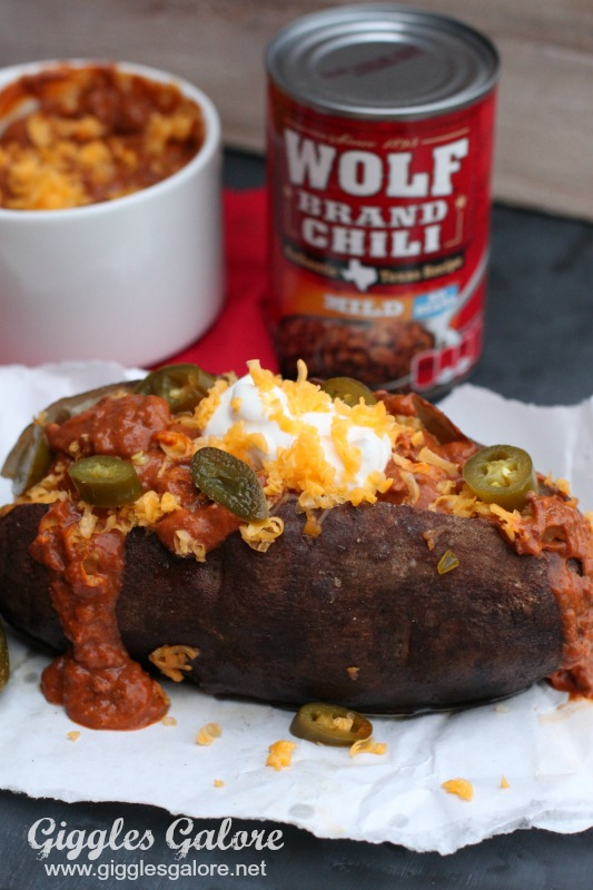 Wolf Brand Chili Loaded Baked Potato