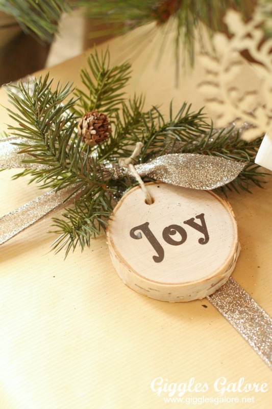 Wood Slice Ornament Tag