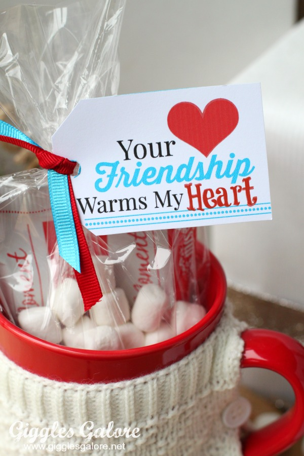 Your Friendship Warms My Heart Tag