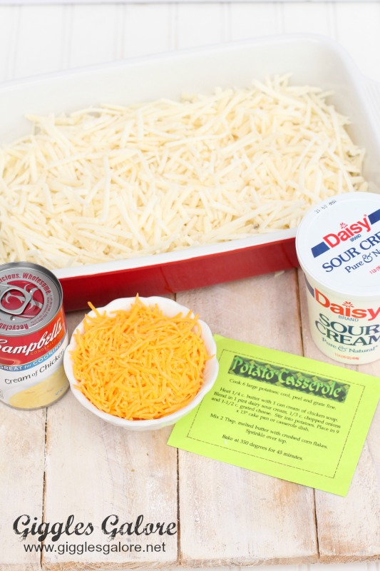Cheesy Potato Ingredients
