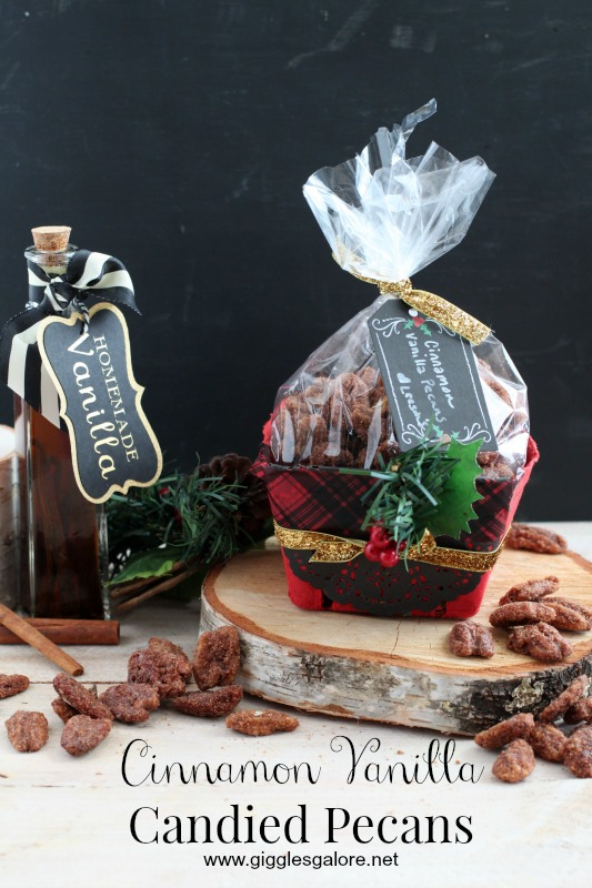 Cinnamon Vanilla Candied Pecans by Giggles Galore
