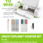 Cricut Explore Starter Set Giveaway