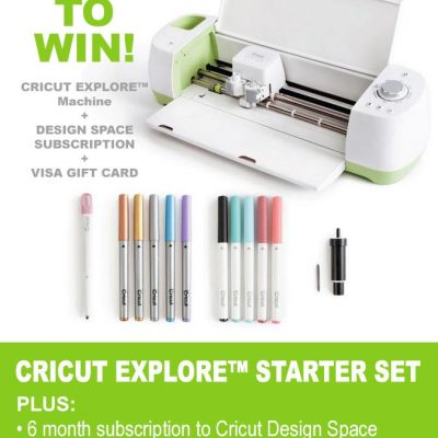 Cricut Explore Starter Set Giveaway
