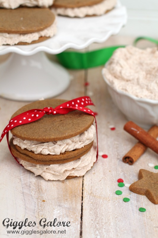 Gingerbread Cinnamon Cookie Sandwiches