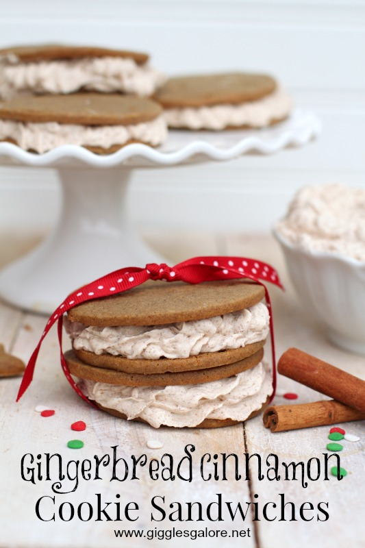 Gingerbread Cinnamon Cookie Sandwiches_Giggles Galore