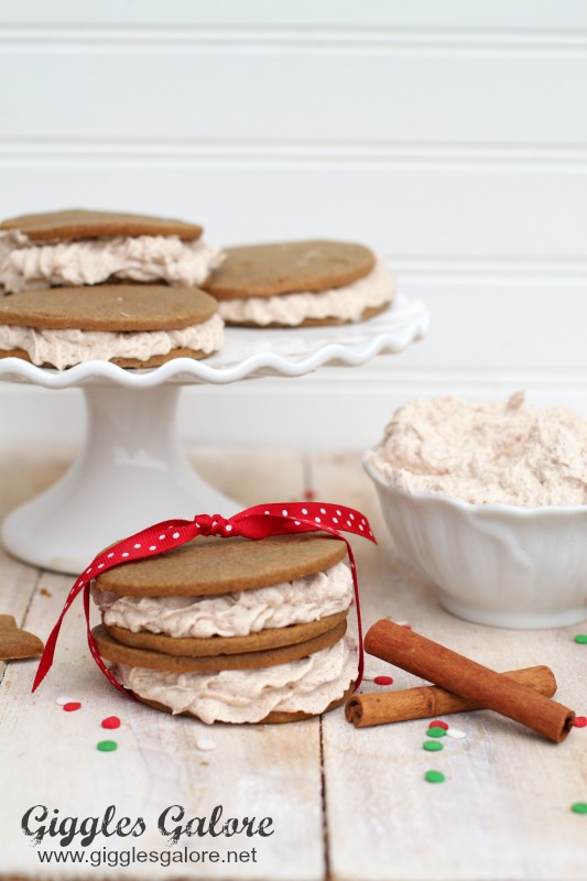 Holiday Gingerbread Cinnamon Cookie Sandwiches