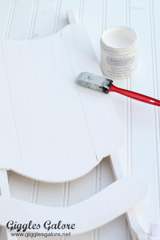 White Primer on Sled