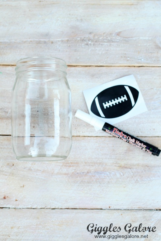DIY Chalkboard Football Labels