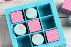 DIY Wooden Washi Tape Tic Tac Toe Game