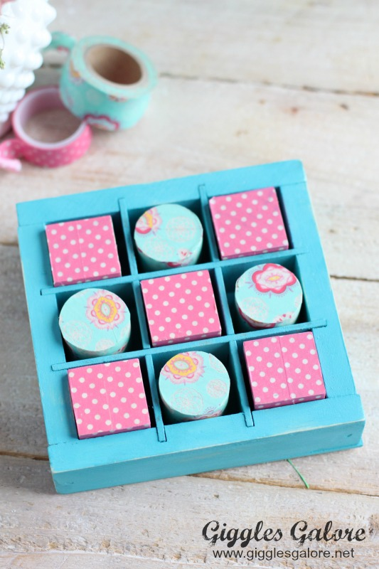 Wooden Valentines Tic Tac Toe Game