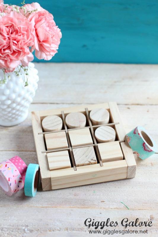 Wooden Valentines Tic Tac Toe