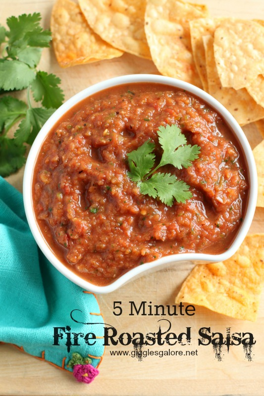 5 Minute Fire Roasted Salsa by Giggles Galore