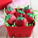 Basket of Strawberry Oreo Truffles