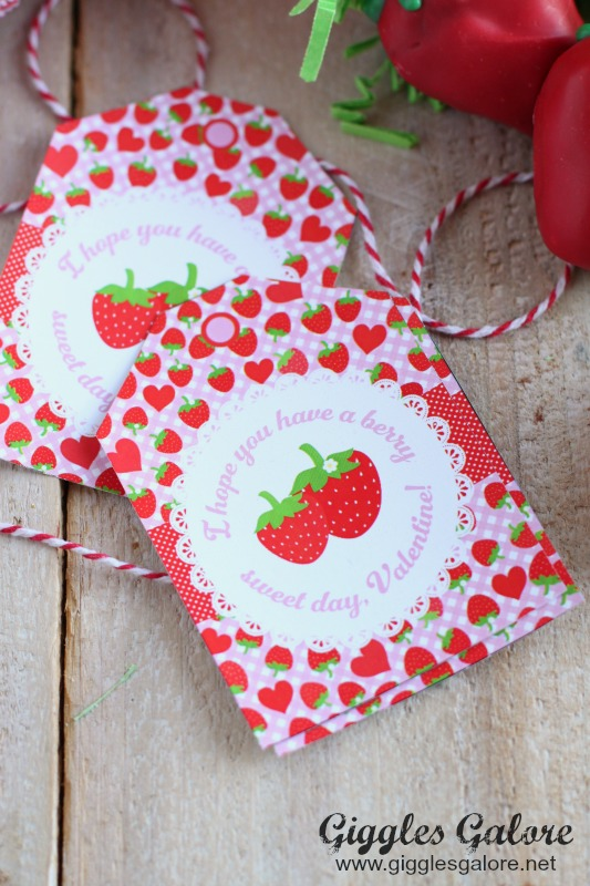 Berry Sweet Valentine Printable Tags