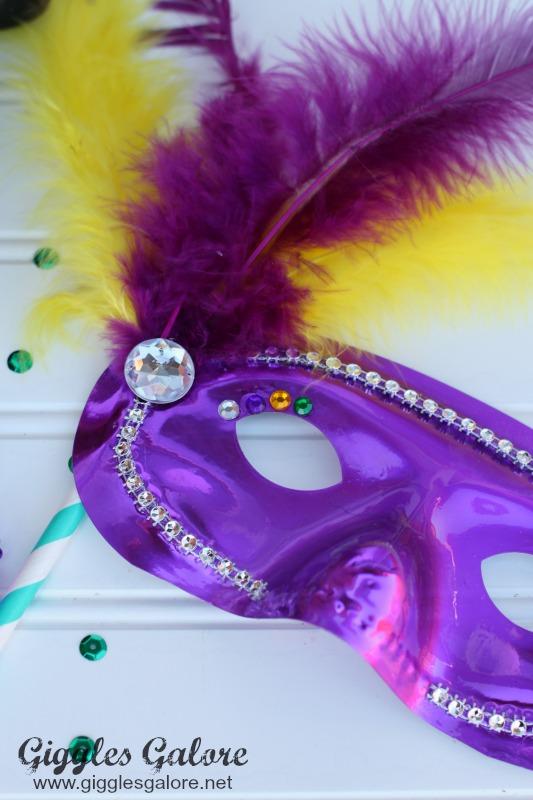 DIY Mardi Gras Mask Embellishments