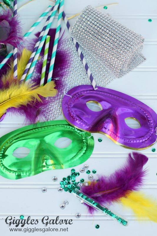 DIY Mardi Gras Mask Supplies